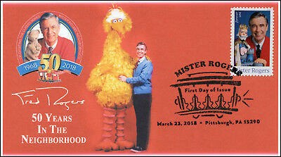 18-057, 2018, Mister Rogers, Pictorial Postmark, First Day Cover