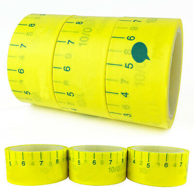 DIY 6M Masking Tape Ruler Craft Measure Adhesive Stationery Decorative Sticker