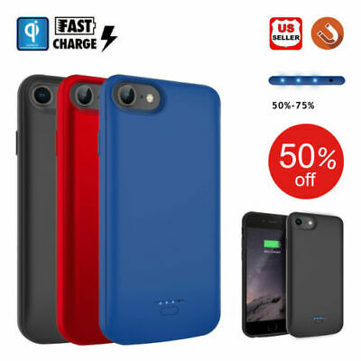iPhone XS 8 7 Plus Qi Wireless External Rechargeable Battery Power Charger Case