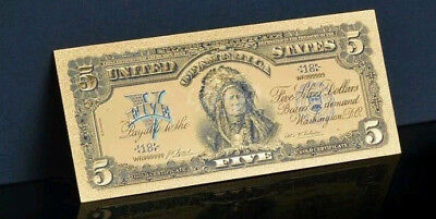 ☆AMAZING ☆ 《1899 SILVER CERTIFICATE》 INDIAN CHIEF  $5 Rep.*Banknotezz