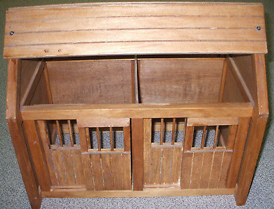 """HORSE STABLE SOLID WOOD SLIDING BARN DOORS RARE 18"""" x 16"""" x 12"""" EXCELLENT COND!"""