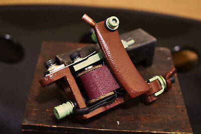 Handmade tattoo machine medium liner 5-14rs, Running 135-140 Hz @ 4.5 V Unloaded