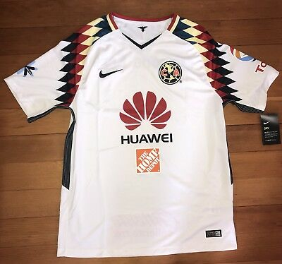 new concept ed091 808b9 CLUB AMERICA NIKE Away Kit Soccer Jersey 2017 2018 Men's Large Brand New NWT