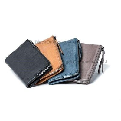 Leather Wallet, Slate, Genuine Leather, Louise Oran Leather Wallet