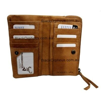 Leather Wallet, Tan, Genuine Leather, Louise Oran Leather Wallet