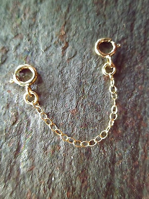 "14kt Yellow Gold Filled 2"" Safety Chain for Bracelets - New Jewelry Accessory"