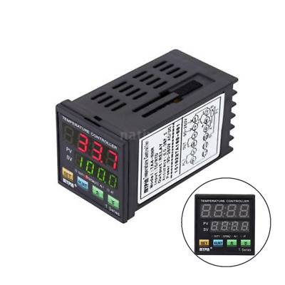 Digital LED PID Temperature Controller Thermometer RNR 1 Alarm Relay Output M9Q3
