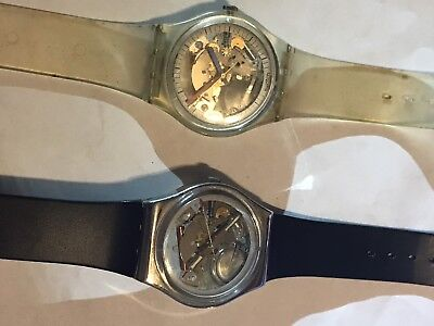 Vintage 1985/1987 Swatch Watches Swiss Movements