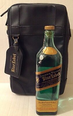 Johnnie Walker Blue Label Leather Travel Case W/ Bottle Limited Edition