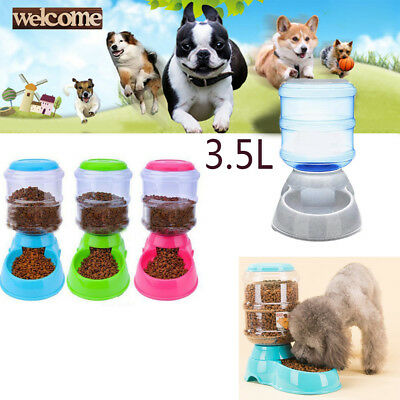 3.5L Automatic Pet Feeder Dog Cat Programmable Animal Food Bowl Water Dispenser