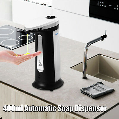 400ML New ABS IR Touchless Automatic Liquid Soap Dispenser Kitchen Bathroom