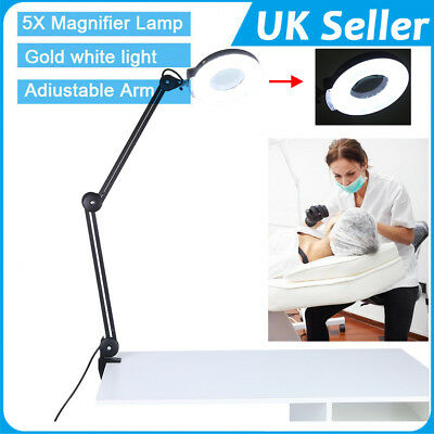 Magnifying Lamp Desk Magnifier Light Skin Care Beauty Nail Manicure Tattoo Salon