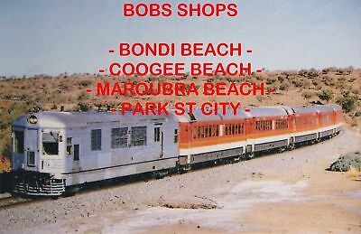 Nsw Broken Hill 1956 Rail Motor #1 Colour Photo $2