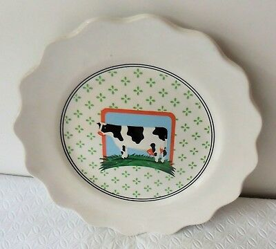 "Vandor Country - 8"" ""Cow in Pasture"" Collector Salad Plate 1981 [Japan] (EUC)"