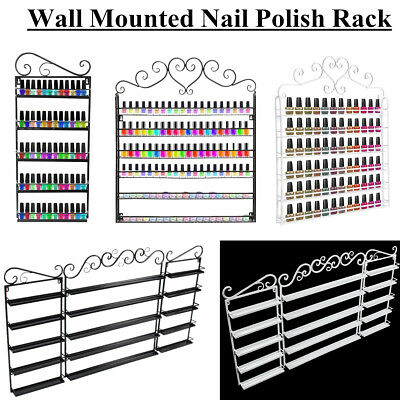 3 Types Vintage Wall Mounted Nail Polish Metal Rack Stand Display Organizer