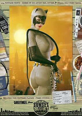 Catwoman DC Animated Universe 'Sunset City' Comic Series Hand Signed A3 Print