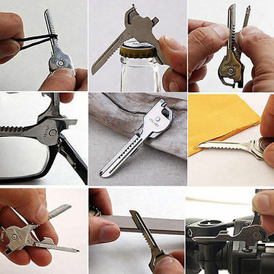 6 in 1 SWISS TECH Utile-Key Multi-Tool Mini Pocket Knife Screwdriver Key Ring AU