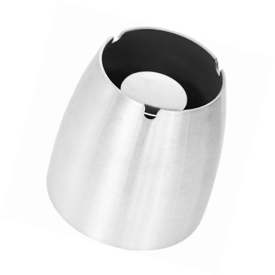 Stilemo XL Ashtray - Windproof Outdoor Ashtray - Perfect for Your Garden (silver