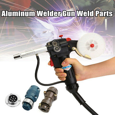 Spool Gas Shielded Mig Welding Gun + 7Pin Plug Push Pull Aluminum Torch+ 3m lead