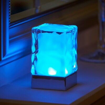 Auraglow Rechargeable Cordless Wireless Colour Changing LED Table Lamp – GLACIER