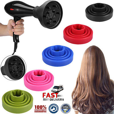Universal Folding Silicone Blower Hairdryer Diffuser Salon Hair Styling Tools AU