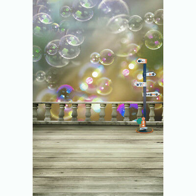3x5Ft Cloth Colorful Cute Bubbles Floor Studio Backdrop Photography Prop Backgro