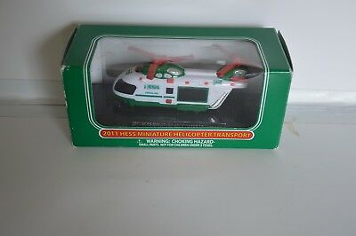Hess 2011 Miniature Helicopter . New In Box