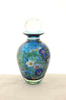 Stunning Vintage Large Black Sheep Art Glass Cased Paperweight Perfume Bottle