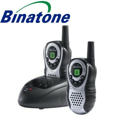 Binatone Latitude 150 2-Way Radios Walkie Talkie 8 Channels 3Km Range Black