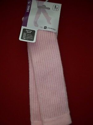 Domyos Solid Color PINK Leg NWT Legwarmers Leggings Girls Dance