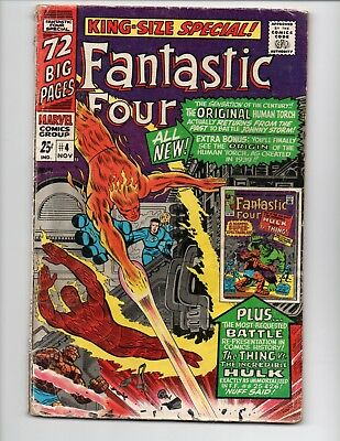 Fantastic Four Annual #4  Good+  Hulk vs Thing 1966