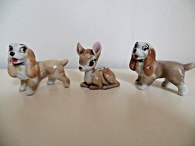 WADE LADY x 2 AND BAMBI DISNEY WHIMSIES EXCELLENT CONDITION