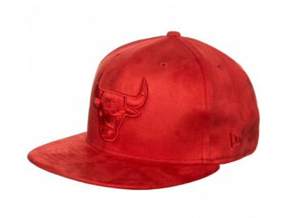 New Era All Red Suede 59FIFTY Chicago Bulls Hat cap Fitted (Y262A)