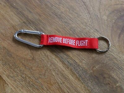 Remove Before Flight keyring Karabiner / belt loop.