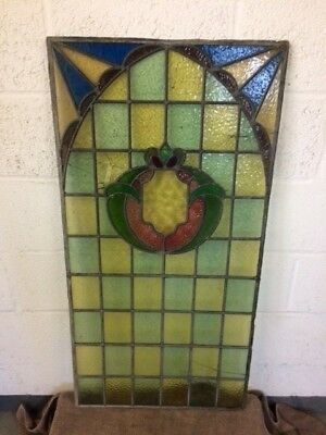4 X Antique Stained Glass Windows For Restoration