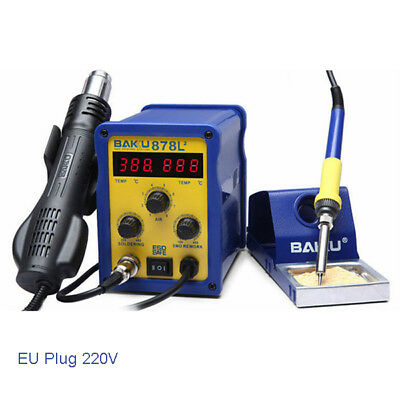 BAKU BK-878L2 700W 220V EU Plug 2 in 1 Rework Station Soldering Iron and Hot Air