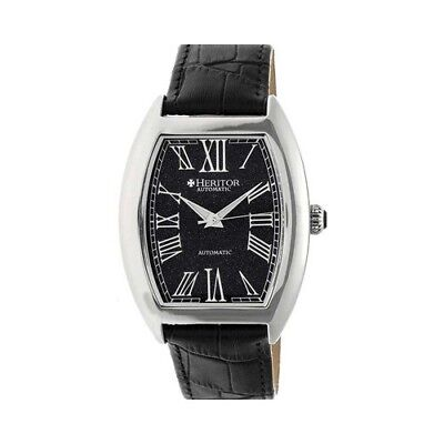 Heritor Men's   Automatic HR6004 Baron Watch Black Crocodile Leather/Stainless