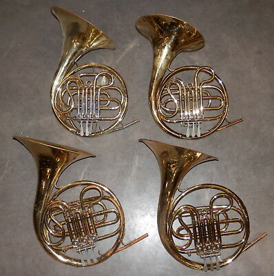 4 Vintage Conn Single F French Horns !Good Fixeruppers!