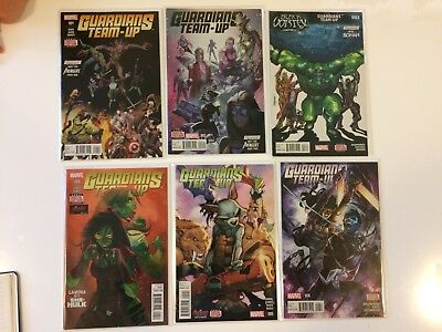 Lot of 6 Guardians Team Up #1 2 3 4 5 6 Marvel Comics (2016) VF/NM Run
