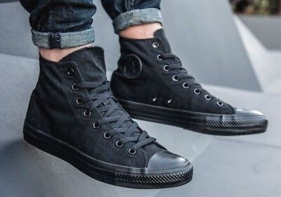 8a420c1bc1a New CONVERSE All Star Chuck Taylor Hi Top Sneaker triple black Mens all  sizes