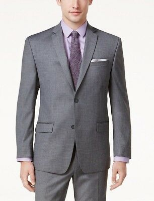 $301 ANDREW MARC NEW YORK mens GRAY FIT SUIT BLAZER JACKET SPORT COAT 44 S