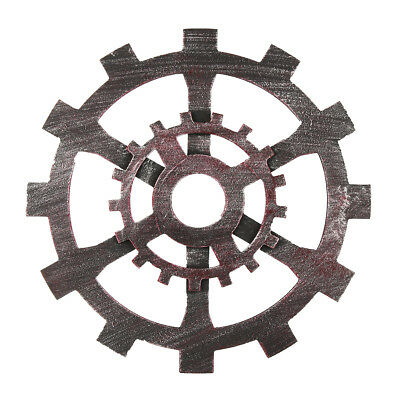 30cm Industrial Wood Wooden Gear Vintage Retro Art Bar Cafe Wall Hanging Decorat