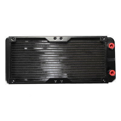 G1/4 18 Tubes 240mm Aluminum Computer Radiator Water Cooling Cooler For PC CPU C