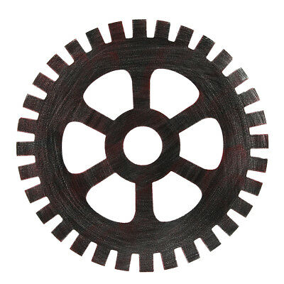 41cm Industrial Wood Wooden Gear Vintage Retro Art Bar Cafe Wall Hanging Decorat