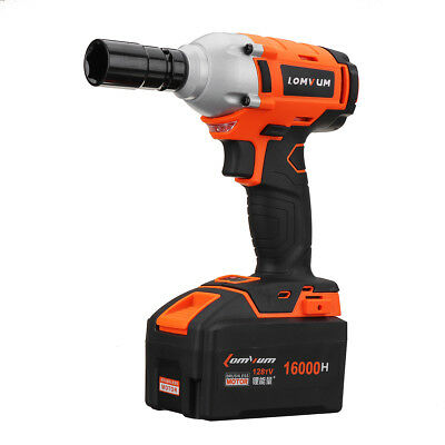 Lomvum 16000mA 320Nm High Torque Lithium-ion Impact Wrench Cordless Power Electr