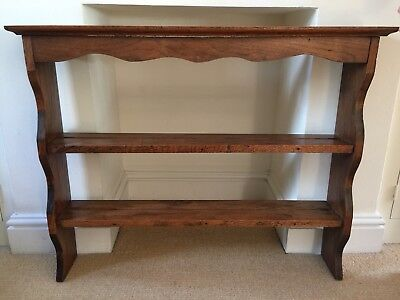 Antique Edwardian Oak Plate Rack Shelves, Lovely Colour with Beautiful Patina