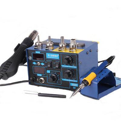 Saike 952D 2 in 1 220V Soldering Station 700W Hot Air Gun Soldering Iron SMD Rew