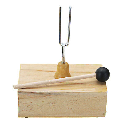 512HZ Frequency Tuning Fork with Wooden Resonance Box Unit Mallet C'' Scale Acou