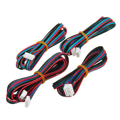 FLSUN 4PCS 1M 4Pin Nema 17 Stepper Motor Cable Compatible With MKS Series For 3D