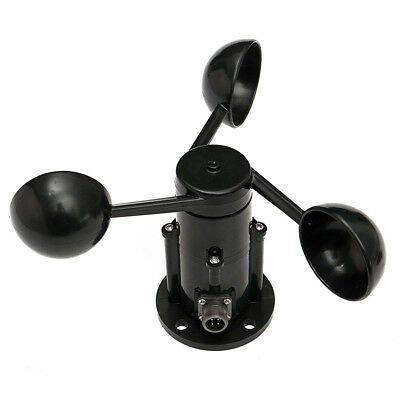 Wind Speed Sensor Anemometer Three Cups Aluminium Alloyed pulse signal output